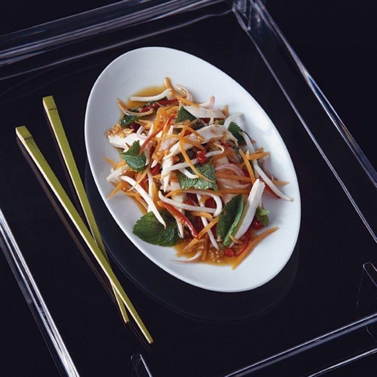 Vietnamese chicken salad with mint