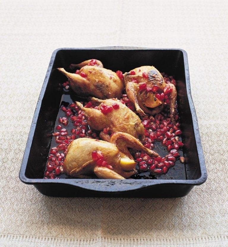 Quails with pomegranate