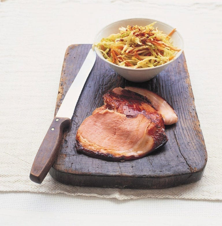 Indian coleslaw with gammon