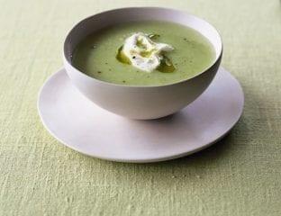 Asparagus vichyssoise soup