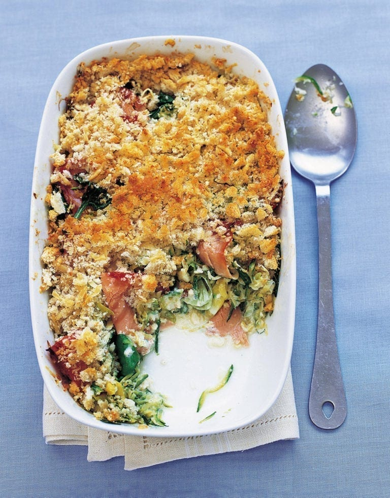 Courgette and ham gratin