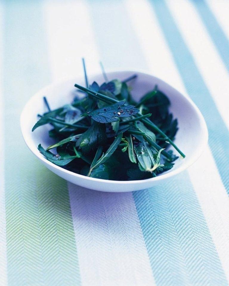 Herb leaf salad