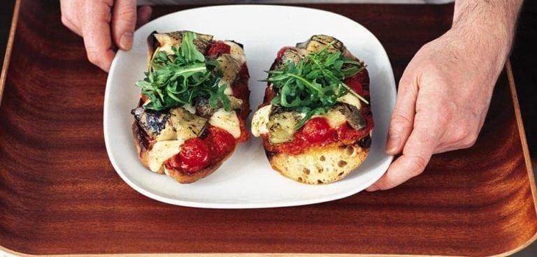 Artichoke, tomato and mozzarella ciabatta