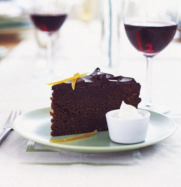 Orange, almond and chocolate cake
