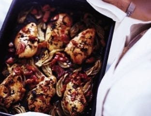 Chicken with fennel and thyme