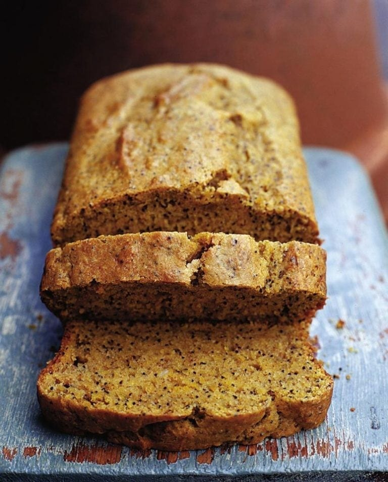 Pumpkin, poppy seed and lemon loaf