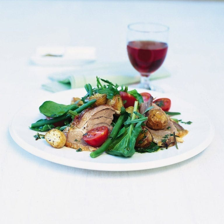 Warm roast lamb salad