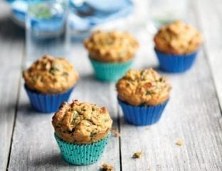 Carrot, spinach and pumpkin seed muffins