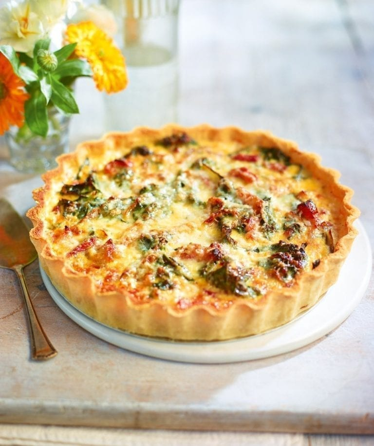 Swiss chard, bacon and Gruyère tart