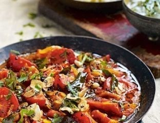 Tomato curry with black mustard seeds