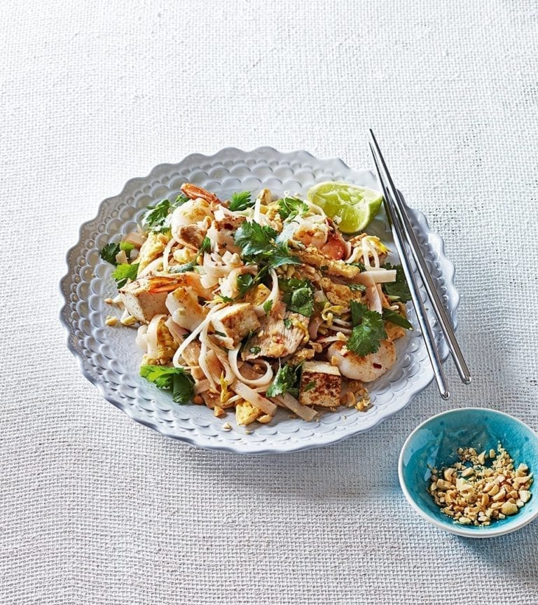 Easy Pad Thai Noodles Recipe Delicious Magazine