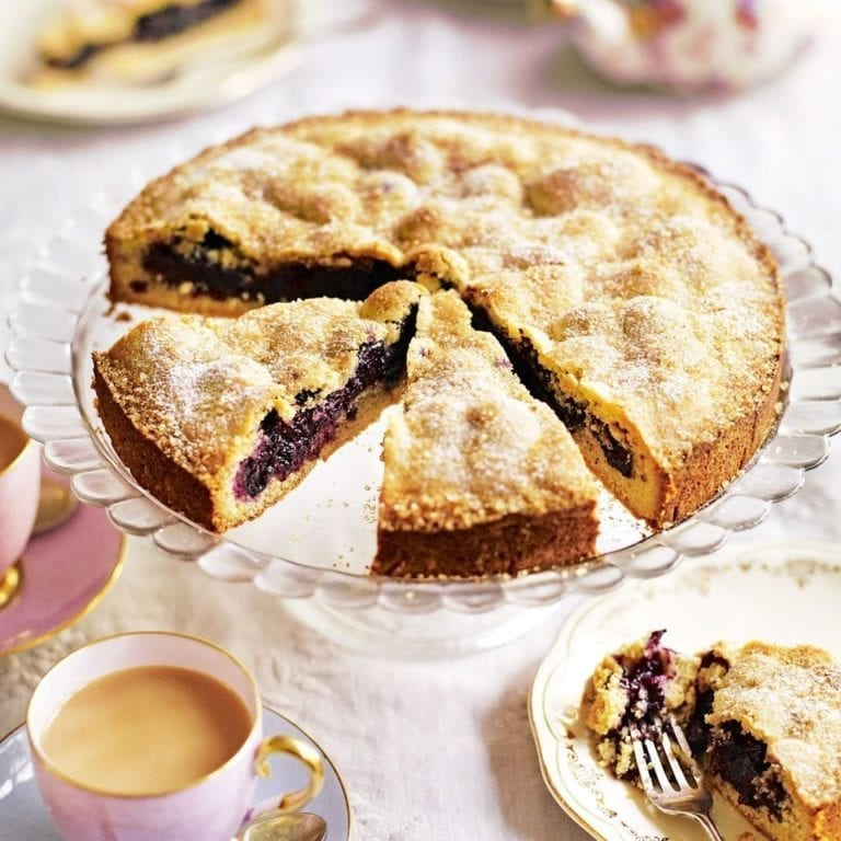Blueberry and polenta shortcake