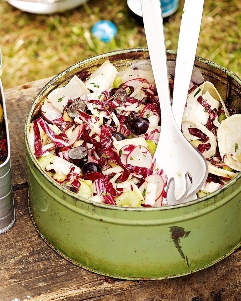 Crunchy radicchio and almond salad