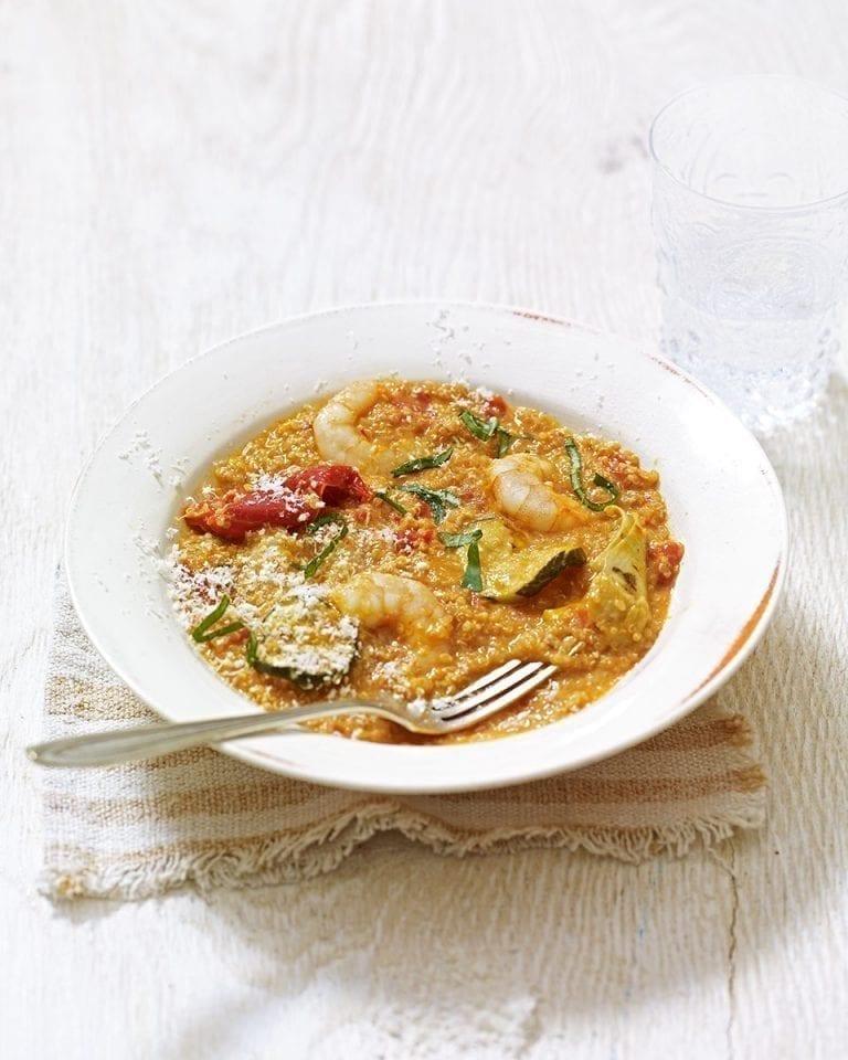Quick Mediterranean quinoa risotto