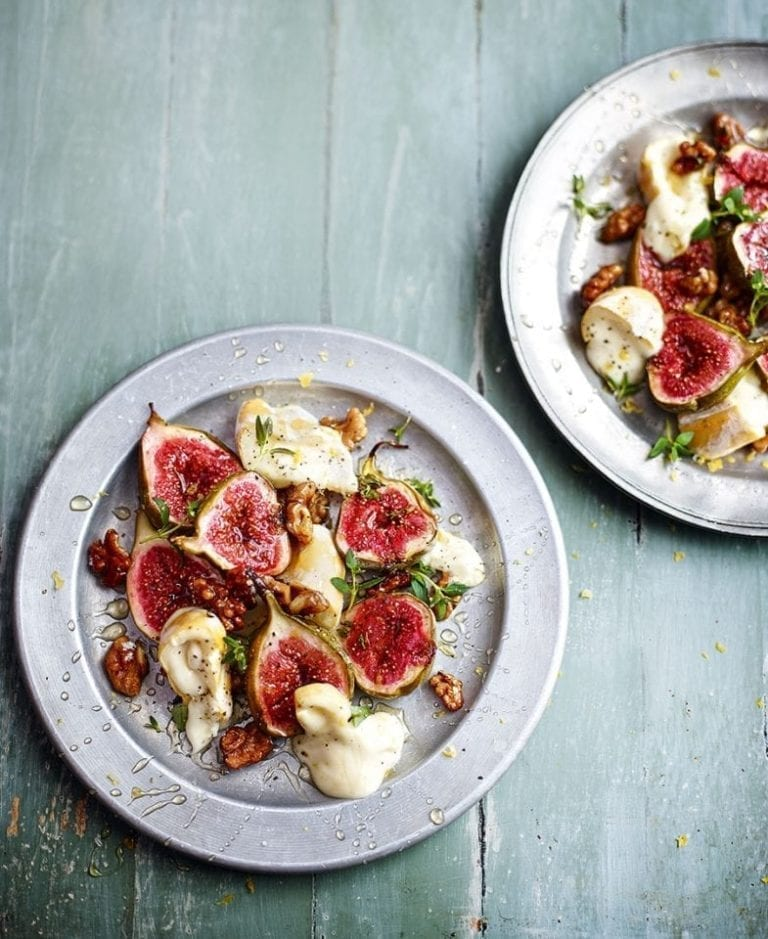 Warm baked figs
