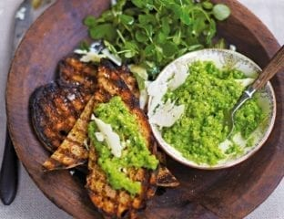 Crushed peas with mint