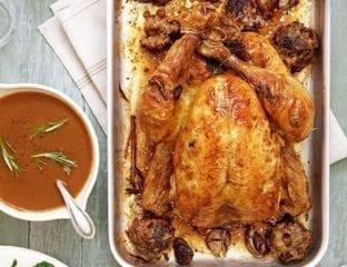 Mum's roast chicken with lemon and garlic