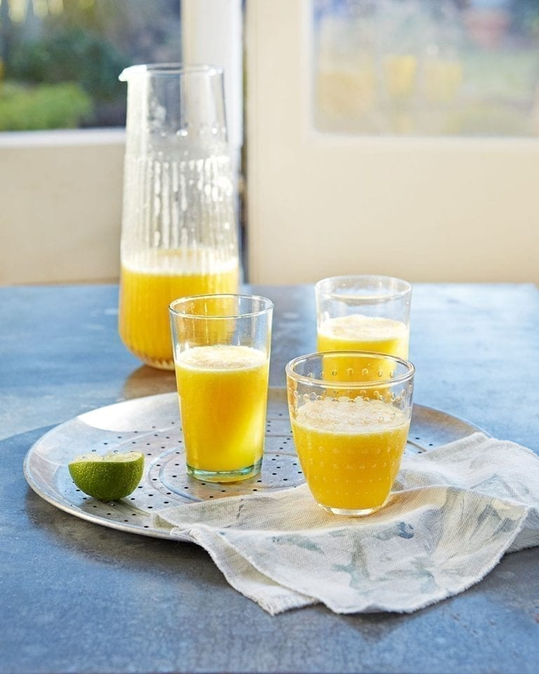 Pineapple, mango and coconut juice