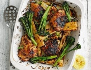 Honey mustard chicken and parsnips