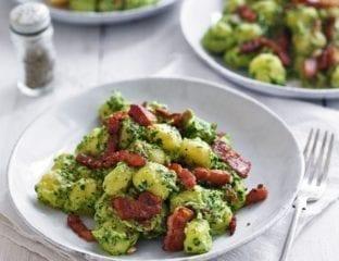 Gnocchi with lemon, kale and mascarpone pesto