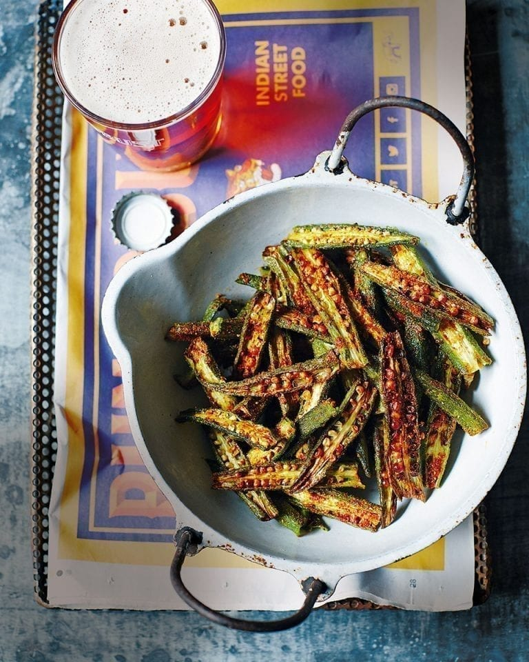 Bhinda fries (crispy okra chips)