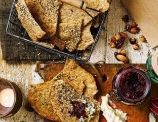 Seeded rye crackers