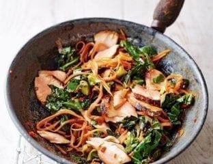 Easy pan-seared teriyaki salmon stir-fry