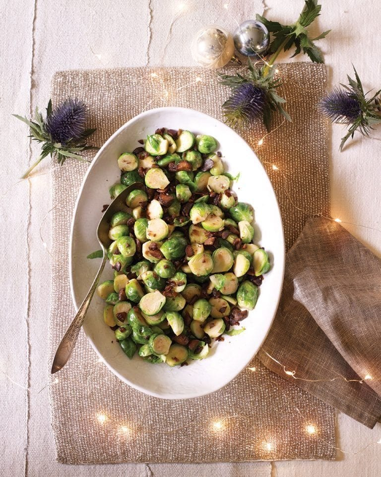 Brussels sprouts with crispy chestnuts