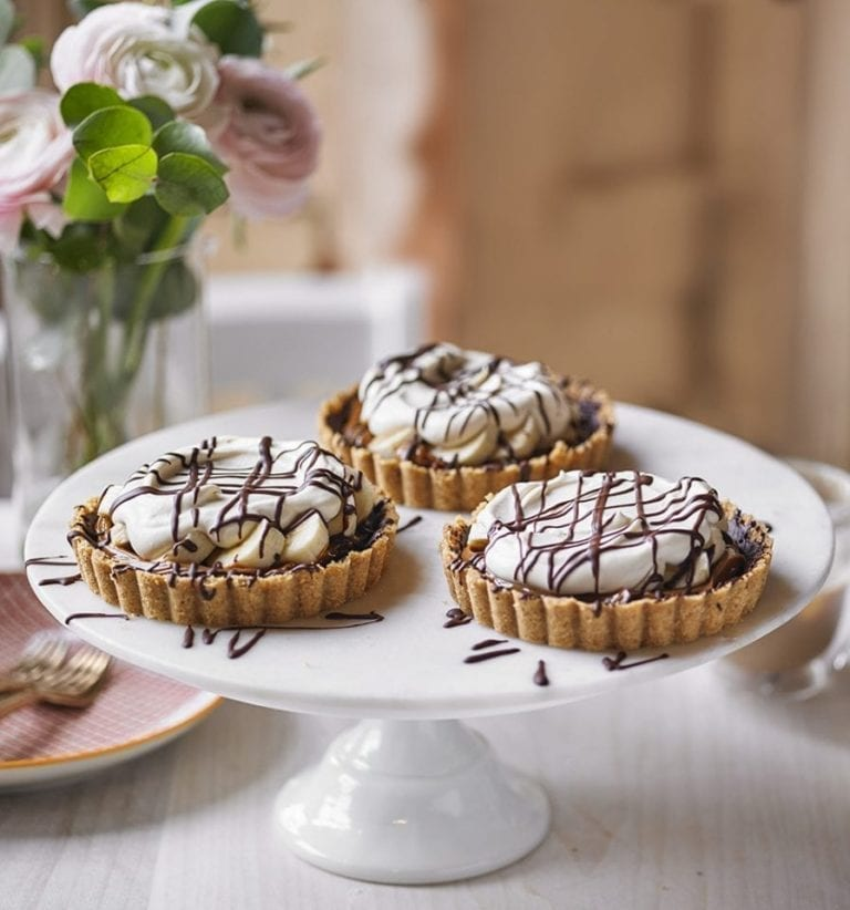 Mini banoffee Baileys pies
