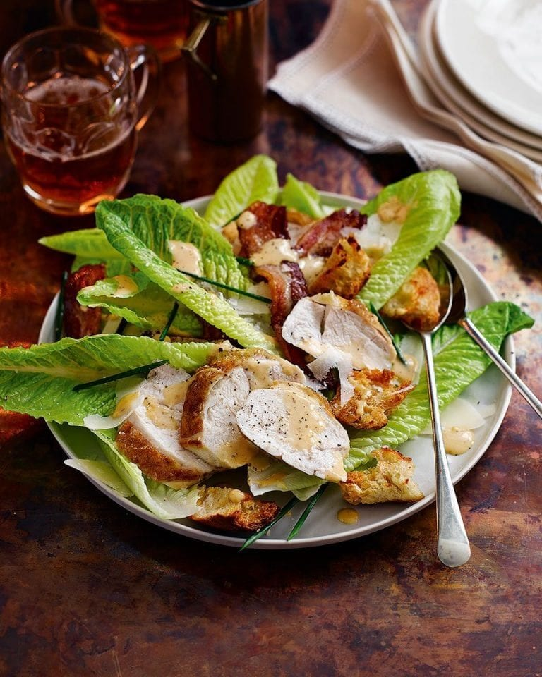 Proper Chicken Caesar Salad Recipe Delicious Magazine