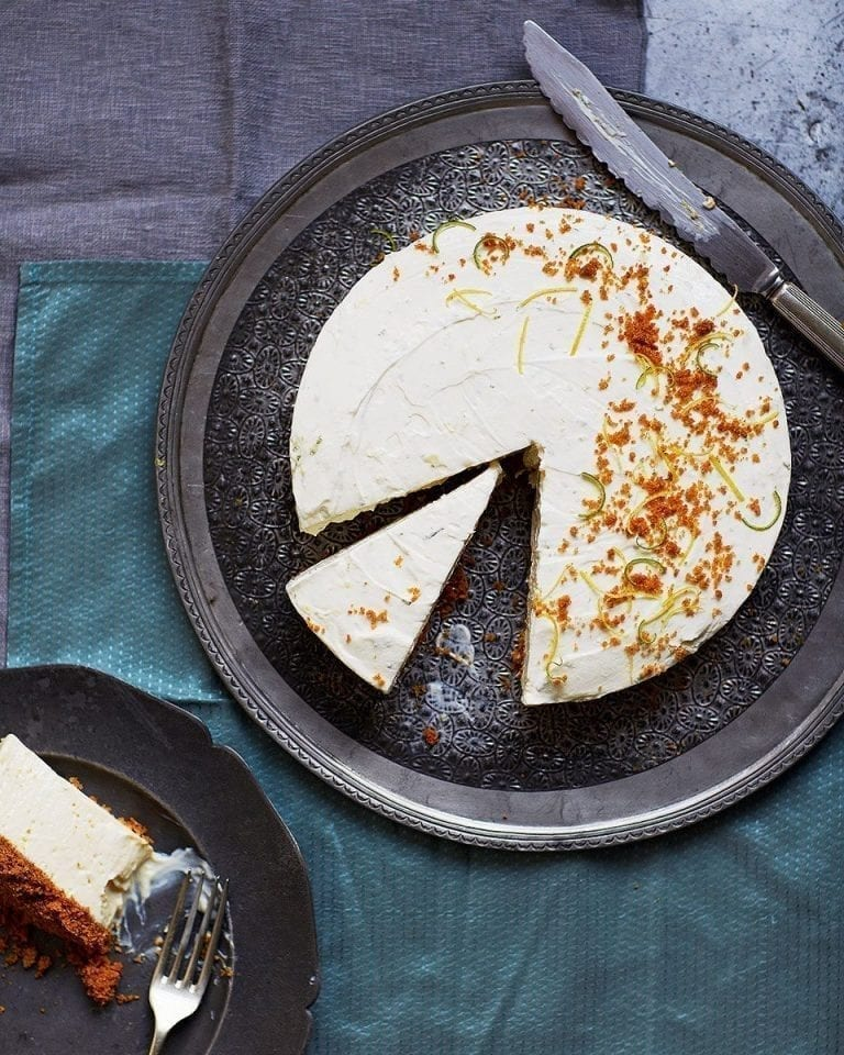 Lemon, lime and ginger cheesecake