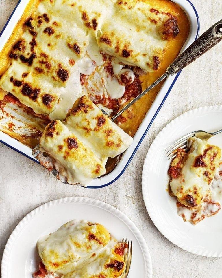 Fresh ricotta and spinach crespellini | delicious. magazine