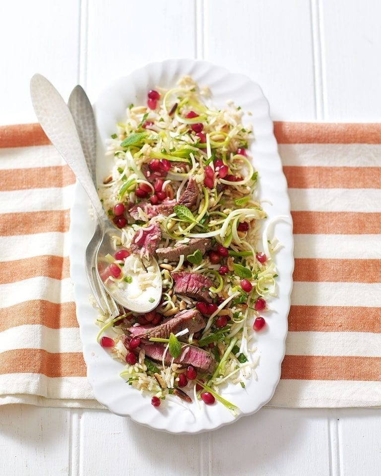 Summery lamb pilaf salad