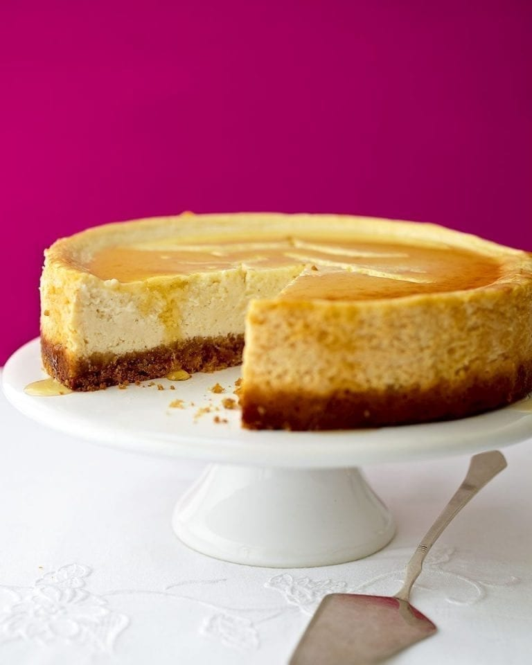 Healthier New York cheesecake