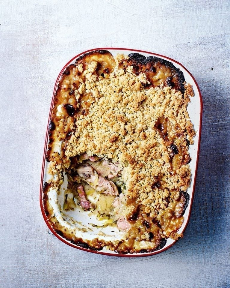 Lighter chicken and bacon pie | delicious. magazine