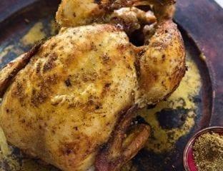 Baluchi-style chicken sajji