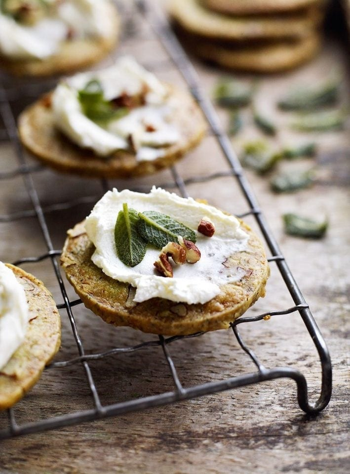 Sage and blue cheese shortbreads