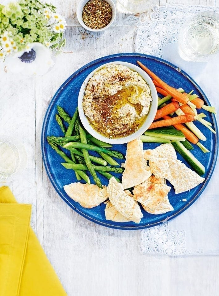 Spiced butter bean and za'atar dip