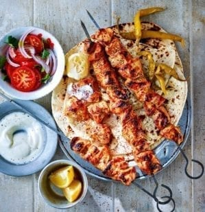 Turkish chicken shish – video