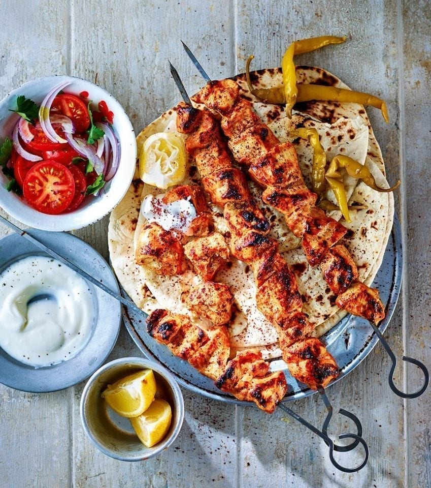 Turkish Chicken Shish Kebab Recipe Delicious Magazine