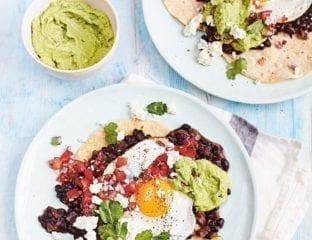 Vegetarian huevos rancheros