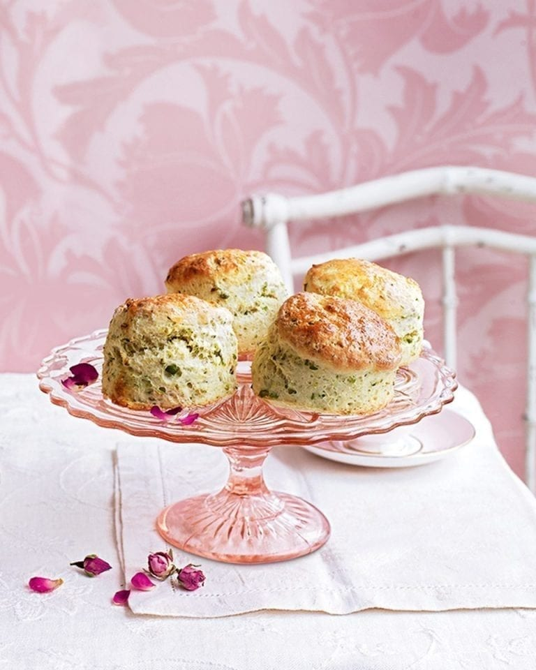 Pistachio and rosewater scones