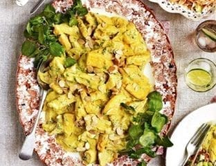 Coronation chicken with kitchiri rice salad