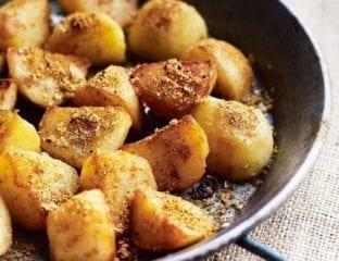 Curry spiced sautéed potatoes