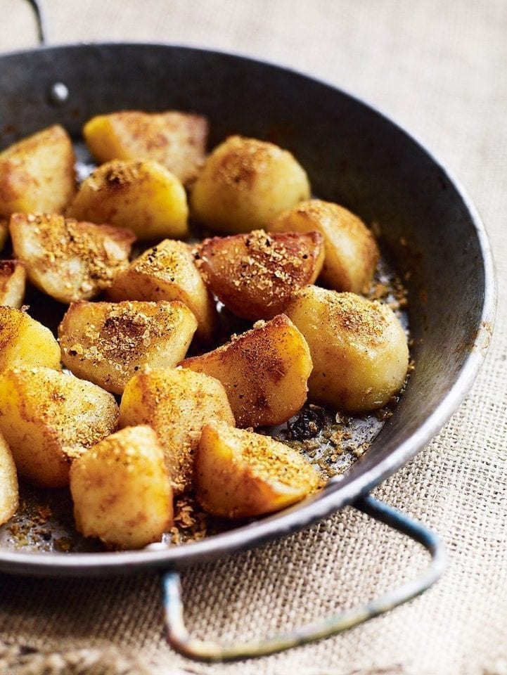Curry spiced sautéed potatoes