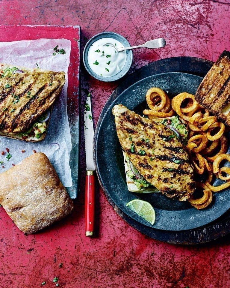 Mexican chicken burgers