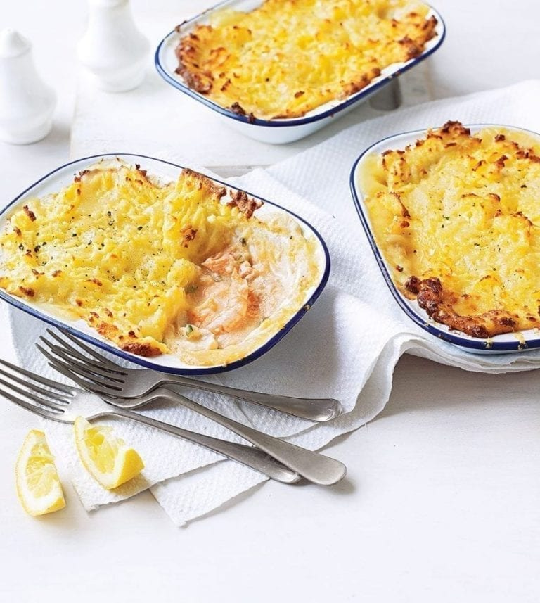 Mini smoked haddock and prawn fish pies