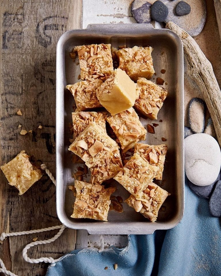 Sherry and salted almond fudge