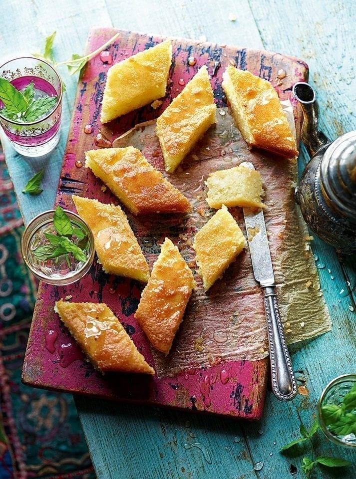 Basbousa (sweet semolina cake)