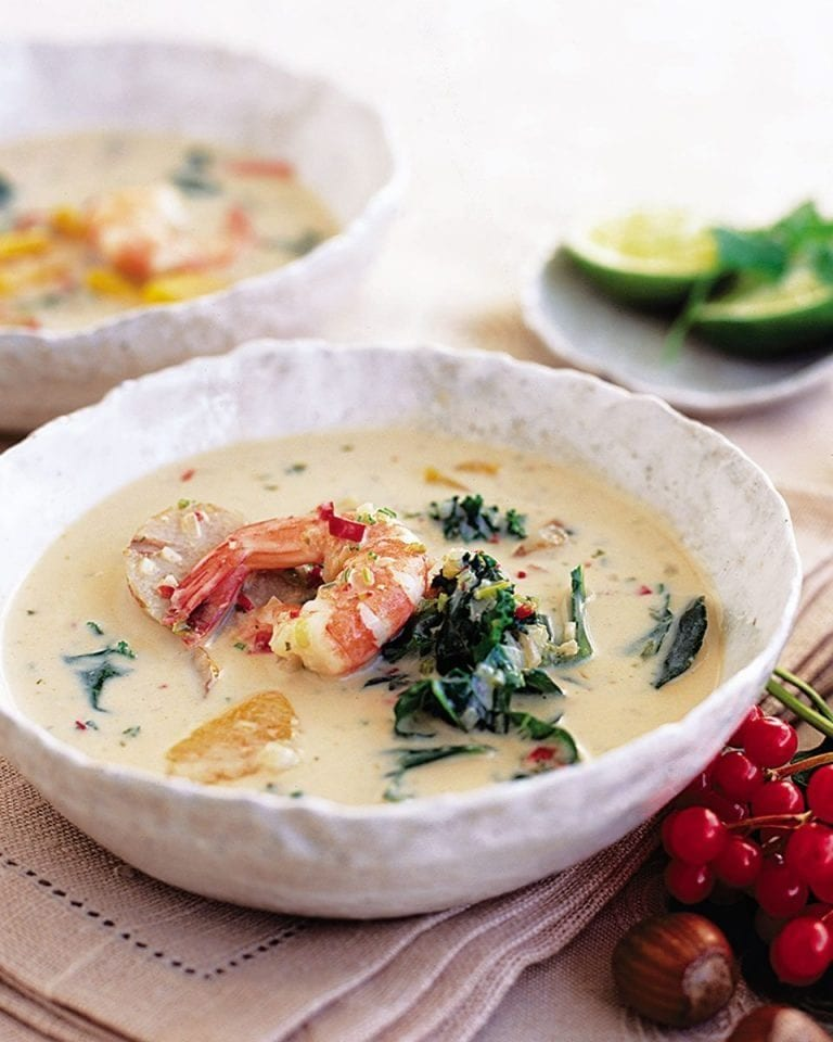 Thai prawn and squash soup